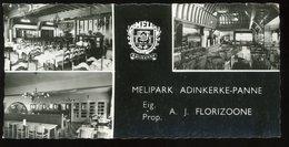 Melipark Adinkerke Panne Florizoone Carte De Visite - Tarjetas De Visita