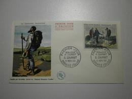 1962 FDC - Bonjour M. Courbet - G. Courbet (Ornans) N°1363 - FDC