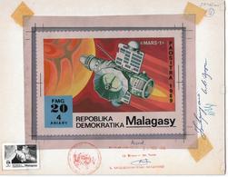 1989 Madagascar Mars Exploration Mars-1 Space Artwork - Madagascar (1960-...)