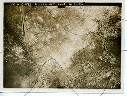 PHOTO ANIMÉE. Photographie Prise Depuis Un Avion . SOMME. RANCOURT. 16 Septembre 1916.L'CA-C.679. 600 M - Lieux