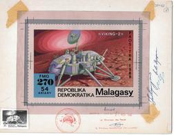 1989 Madagascar Mars Exploration Viking-2 Space Artwork - Madagascar (1960-...)