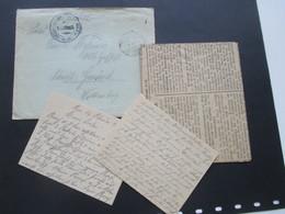 Deutsches Reich Feldpostbrief 1. WK 12.2.1918 Mit Inhalt / Brief Und Teil Einer Zeitung Des Gmünder Tagblatt - Allemagne