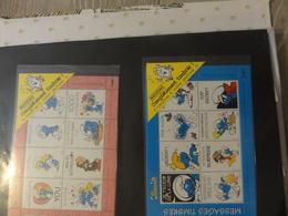 Schtroumpf 2 Blocs Stamp - Fictifs
