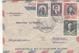 Chili - Lettre De 1932 - Oblit Santiago - Exp Vers Bruxelles - Cachet De Paris Gare Du Nord - Chili
