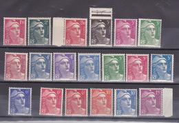 N° 712 à 724 Série Marianne De Gandon Série Complète De 19 Val Neuf Impeccable Sans Charnière - 1945-54 Marianne De Gandon