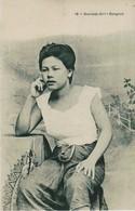 Bangkok; Siamese Girls, Photo Of Old  Postcard, 2 Scans - Thaïlande