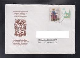 GERMANY, COVER / JOHANNES GUTENBERG, REPUBLIC OF MACEDONIA ** - BRD