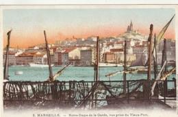 *** 13  ***  MARSEILLE Notre Dame De La Garde Vue Prise Du Vieux Port  - Neuve Excellent état - Marseille