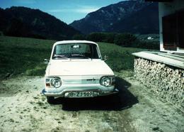 Photo Couleur Originale Renault 10 Major Blanche (1965-1971) - Automobiles