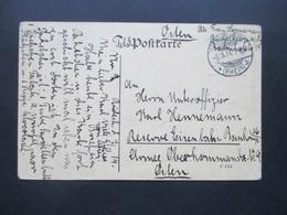 DR Feldpost 1. WK 11.1914 FP Karte Aus Dem Osten An Unteroffizier Der Reserve Eisenbahn Bau Kompagnie - Allemagne