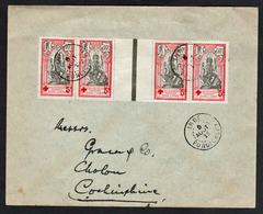 INDE (Anc. Col. Française) CROIX ROUGE: Timbres N°44 X 4 Bande De 4 Avec Un Interpanneau........... - Inde (1892-1954)
