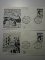 1962 FDC - Championnats Du Monde De Ski, Chamonix 1962 (Chamonix) Enveloppe Du Haut, Voir Description - FDC