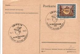Leipzig 1943 - Tag Des Briefmarke - Casque Helm - Germany