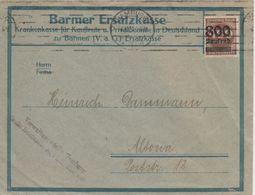 DR-Infla - 800 Tsd. A. 400 M. Ziffer Braun Ortsbrief Hamburg - Altona 6.10.23 - Deutschland