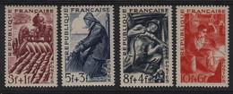 France  N° 823 à 826 ; Neufs Sans Charnière Agriculteur, Pêcheur, Mineur, Métallurgiste - Francia