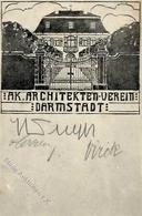 Kunstgeschichte Darmstadt Ak. Architekten Verein Künstlerkarte 1908 I-II - Christiansen