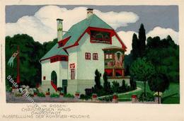 Kunstgeschichte Darmstadt Villa In Rosen Christiansen Haus Künstler Kolonie  Künstlerkarte 1901 I-II - Christiansen