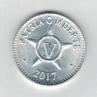 Cuba , 5 Centavos  2017 . AUNC. - Cuba
