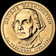 USA. 1 Dollar. $1. 1st President George Washington. UNC. 2007 P - Federal Issues