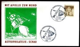 07780) BRD - Beleg - SoST OO 4200 Oberhausen 1 Vom 05.06.1970 - Saturn-5 Rakete - [7] Federal Republic