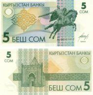 Kyrgyzstan. Banknote. 5 Som. Rider. UNC - Kyrgyzstan