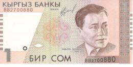 Kyrgyzstan. Banknote. 1 Som. Abdylas Maldybayev. UNC. 1999 - Kyrgyzstan