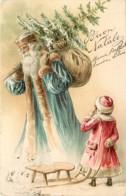 Pere Noel , Carte Gaufrée , * LC 377 85 - Santa Claus