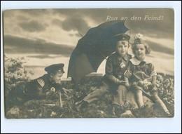Y13544/ Kinder In Uniform  1. Weltkrieg Foto AK 1916 - Guerra 1914-18