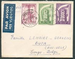 TB Affr. Europa à 8Fr. Obl; Sc OUFFET Sur Lettre Par Avion (Etiq.) Du 23-5-1957 Vers Buta (Congo Belge) - 14898 - België