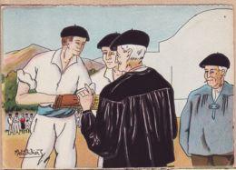 X64540 Euskadi Au PAYS BASQUE Avant La Partie Pelote Conseils Des Anciens BARRE-DAYEZ 1394-D PETITDIDIER 1946-2 N° 578 - France