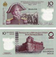 Haiti. Banknote. 10 Gourds. UNC. 2013. Polymer - Haïti