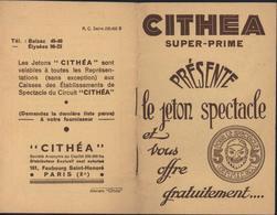 Cithéa Super-prime Jeton Spectacle Vignette Masque Théâtre Coupons Timbres De Réduction Chez Commerçants - Toegangskaarten