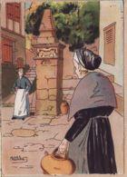 X64506 Euskadi Au PAYS BASQUE A La FONTAINE BARRE & DAYEZ 1394-B Illustrateur PETITDIDIER Depot 1946-2 N° 578 Cpagr - France