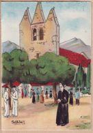 X64552 Euskadi Au PAYS BASQUE Eglise Basque De La SOULE Basabürüa BARRE-DAYEZ 1394-A Par PETITDIDIER Depot 1946-2 N° 578 - France