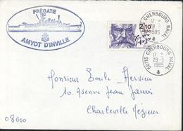 Maritime Naval YT 2358 Victor Hugo CAD 50115 Cherbourg Naval Ancre 29 5 85 Cachet Frégate Amyot D'Inville - Storia Postale