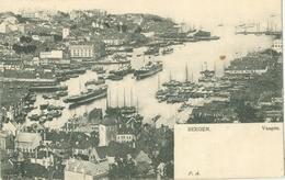 Bergen; Vaagen (Panorama View Town And Harbour) - Not Circulated. (Schönbergs Kortforlag - Christiania, Oslo) - Norvegia