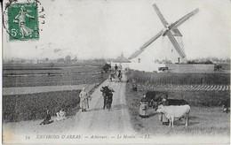 ARCHICOURT  ( Environs D'Arras ) Le Moulin Et Son Animation (1913) - Sonstige Gemeinden
