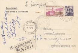 TERMINI IMERESE  /  Città - Card _ Cartolina Racc. Avviso Di Ric. - Commemorativo Lire 70 + Altro _  1.2.1962 - 6. 1946-.. Repubblica