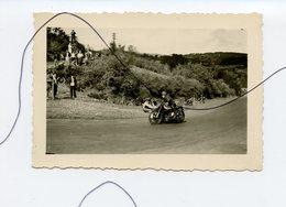 PHOTO. Une Course De Moto. SIDE-CAR EN PLEIN VIRAGE Technique Du Passager    .NORTON , GILERA , B.S.A , AUVERGNE - Cars