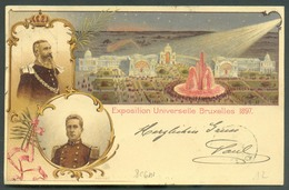 E.P. Exposition Universelle De Bruxelles 1897, Obl. Sc BRUXELLES (NORD) 1 Du 20 Juin 1897 Vers Anvers.  TB Qualité. - 14 - Stamped Stationery