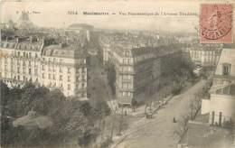 PARIS - Montmartre, Vue Panoramique De L'avenue De Trudaine. - Distretto: 18
