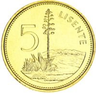 Lesotho 5 Licente 1994 AU-UNC - Lesotho