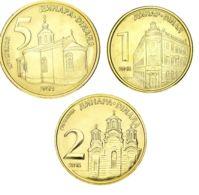 Serbia 3 Coins Set 2014-2016 UNC 1, 2, 5 Dinars - Servië