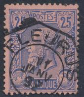 """émission 1884 - N°48 Obl Télégraphique """"Fleurus"""" - 1884-1891 Leopold II."""