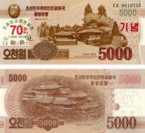 North Korea 5000 Won 2019 UNC Commemorative 70 Years Of Diplomacy - Corée Du Nord