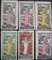 MONACO - Erinnophilie - 6 SUPERBES Vignettes Des Fêtes De Printemps Du 9 Au 17 Mai 1914 RARE - Monaco