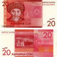 Kyrgyzstan 20 KGS 2016 (2019) UNC (Pnew) - Kyrgyzstan