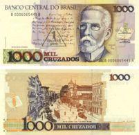 Brazil 1000 Cruzado 1989 UNC 1 New Cruzado (P216) - Brazil