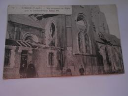ROBECQ (pas De Calais) Vue Extérieure De L'église Après Bombardement D'août 1918 Guerre 1914 18 - Andere Gemeenten