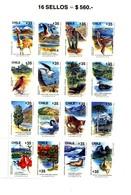 Chili 1990-,oiseaux,cygne,lama,arbre,cactus-YT 935/504975***MNH - Timbres